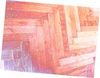 Pavimento bianco giallo porpora rosso di legno Fotografia Stock