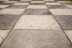 Pavimento Checkered Fotografie Stock
