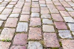 Pavimento Cobbled del bloque imagenes de archivo