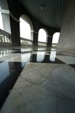Pavimento con retro checkered Fotografia Stock Libera da Diritti