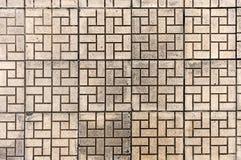 Pavimento concreto tejado del mosaico de la textura inconsútil del ¡del roadภde las piedras de pavimentación Fondo de la teja d Fotografía de archivo libre de regalías
