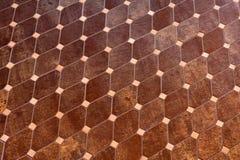 Pavimento coperto di tegoli Fotografia Stock Libera da Diritti