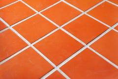 Pavimento coperto di tegoli di ceramica fotografia stock