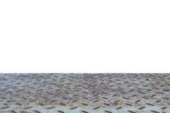 Pavimento d'acciaio su bianco Immagini Stock