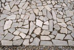 Pavimento da rocha do jardim com seixos Fotos de Stock
