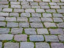 Pavimento de adoquín Imagenes de archivo