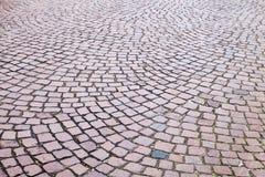 Pavimento de estrada da pedra do granito Foto de Stock