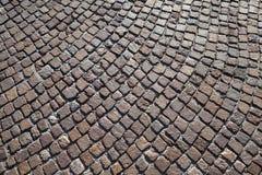 Pavimento de estrada da pedra do granito de Brown Imagens de Stock