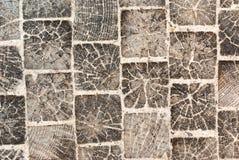 Pavimento de madeira dos blocos com areia Imagem de Stock Royalty Free