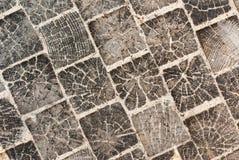 Pavimento de madeira dos blocos Fundo Imagens de Stock