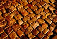 Pavimento de pedra à vista do sol de ajuste Fotografia de Stock