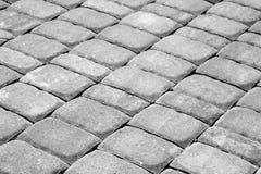 Pavimento de pedra do godo em preto e branco Imagem de Stock Royalty Free