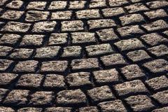 Pavimento de pedra na perspectiva no luminoso Fotos de Stock