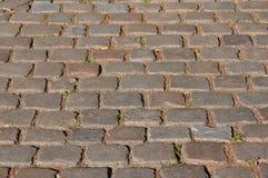 Pavimento de piedra del adoquín Foto de archivo libre de regalías