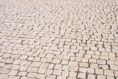 Pavimento de piedra del ladrillo de la calle foto de archivo libre de regalías