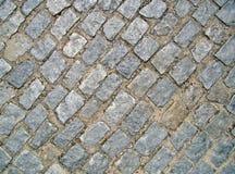 Pavimento de piedra en la calle Fotografía de archivo