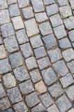 Pavimento de piedra en Praga por día Imagenes de archivo