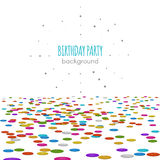 Pavimento dei coriandoli Vector il modello di superficie su fondo bianco per la festa di compleanno o la decorazione dell'invito Fotografia Stock