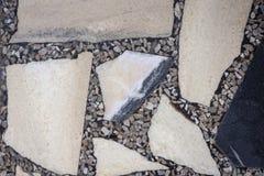 """Pavimento del †di marmo di struttura """"con del il fondo di pietra colorato multi delle lastre in costruzione antica immagine stock"""