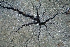 Pavimento del asfalto con las grietas imágenes de archivo libres de regalías