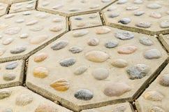 Pavimento del blocchetto del mattone Fotografie Stock Libere da Diritti