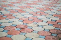 Pavimento del bloque del cemento foto de archivo