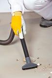 Pavimento del cemento di pulizia Immagini Stock