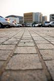 Pavimento del estacionamiento Fotografía de archivo libre de regalías