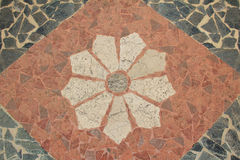 Pavimento del granito con el estampado de flores Imagen de archivo libre de regalías