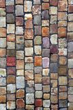 Pavimento del guijarro en Praga Fotos de archivo