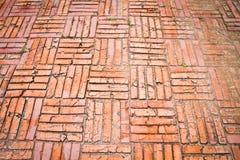 Pavimento del mattone dell'annata Immagini Stock