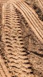 Pavimento del suolo e gomma del camion Fotografie Stock