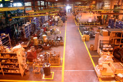 Pavimento della fabbrica. Immagine Stock