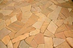 Pavimento della roccia di Brown Immagini Stock