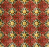 Pavimento di ceramica cinese sporco rosso Fotografia Stock Libera da Diritti