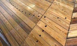 Pavimento di legno bagnato Fotografia Stock Libera da Diritti