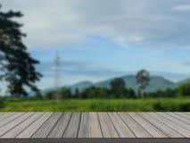 Pavimento di legno con fondo vago immagini stock libere da diritti