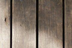 Pavimento di legno con ombreggiatura Fotografia Stock Libera da Diritti