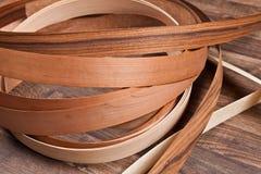 Pavimento di legno con piccola impiallacciatura Immagini Stock