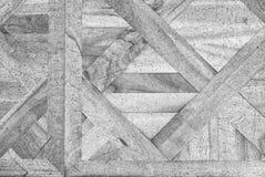 Pavimento di legno consumato del corridoio del castello Pavimentazione di legno leggera Immagine Stock