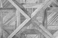 Pavimento di legno consumato del corridoio del castello Pavimentazione di legno leggera Fotografia Stock Libera da Diritti