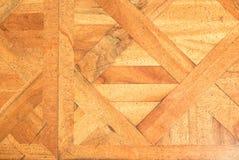 Pavimento di legno consumato del corridoio del castello Pavimentazione di legno leggera Fotografia Stock