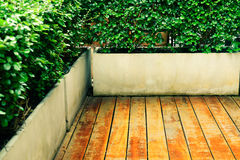 Pavimento di legno d'annata all'aperto Immagini Stock Libere da Diritti