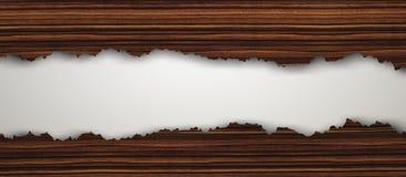 Pavimento di legno d'annata strappato illustrazione di stock