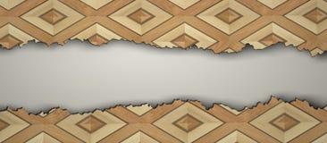 Pavimento di legno d'annata strappato illustrazione vettoriale