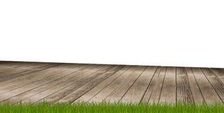 Pavimento di legno 3d-illustration a terra illustrazione di stock