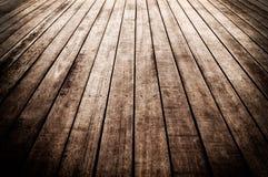 Pavimento di legno del bordo Fotografie Stock Libere da Diritti