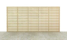 pavimento di legno della ghiaia e della lastra su fondo bianco Royalty Illustrazione gratis