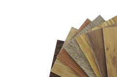 Pavimento di legno di struttura: mattonelle della quercia, mattonelle del balsamo, campioni del laminato Fotografia Stock