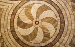 Pavimento di legno duro russo della vecchia decorazione fotografie stock libere da diritti